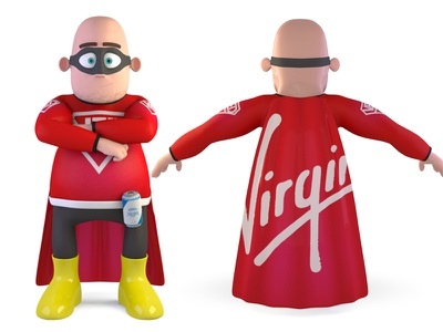 Very Experienced Dad - Reverse fathers day dad superhero character 3d render modo