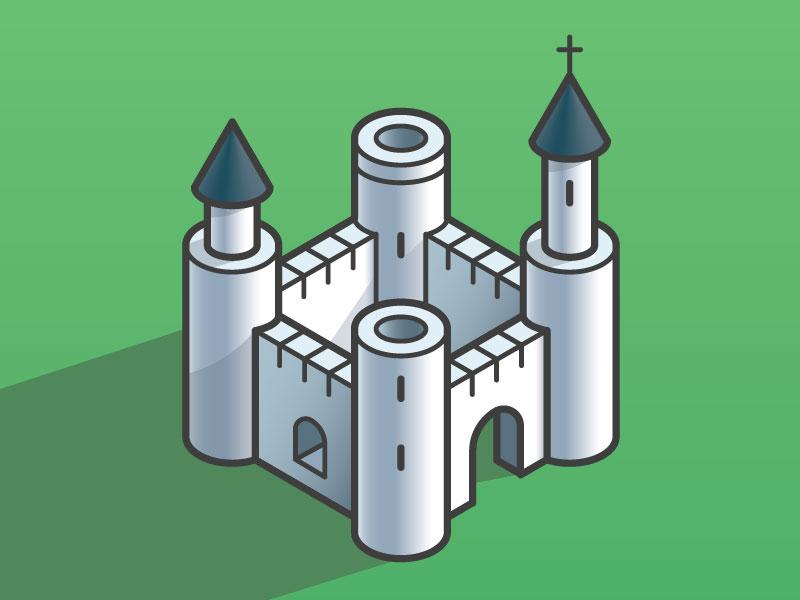 Castle Dribbble design vector illustration richmond virginia castle