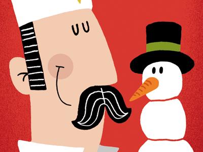 Christmas card illustration christmas card snowman ice cream