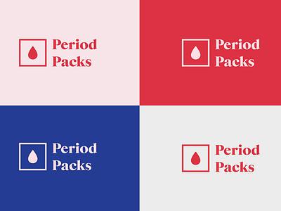Period Packs Logo Concept adobe illustrator non-profit branding brand identity brand design logo design logo