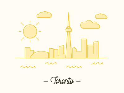 Toronto Skyline Illustration line illustration illustration design illustration illustrator toronto