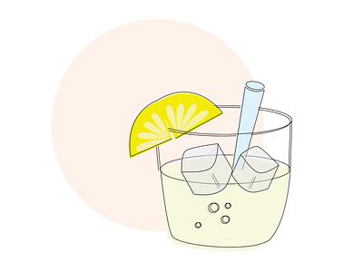 Lemonade illustration digital design adobe illustrator