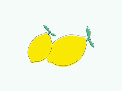 Lemon Family Illustration vector digital design line illustration lemonade lemon lemons adobe illustrator illustrator