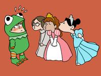 Frog and princesses