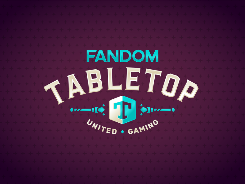 Fandom Tabletop Logo games roleplaying logo identity brand typography fandom branding design