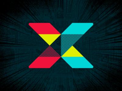 Fandom X letter x lettering logo logotype design branding identity typography fandom