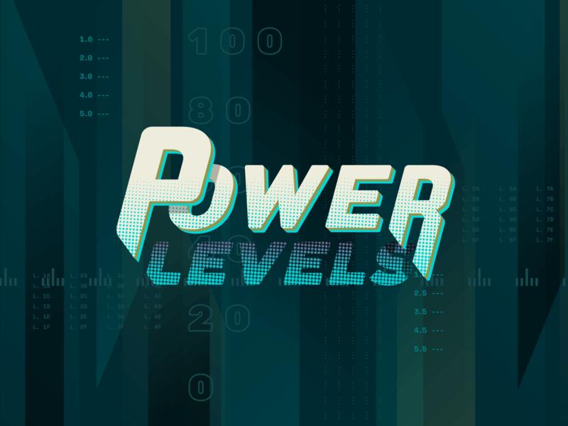 Power Levels show brand science video pop culture logo identity brand branding typography design fandom