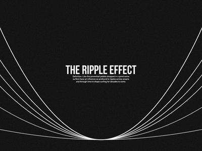 The Ripple Effect // Branding minimal graphic design graphic concept branding vector design logo