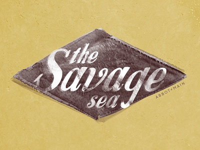The Savage Sea 🌊 for Abbot + Main minimal graphic design graphic concept branding vector design logo lettering type typography