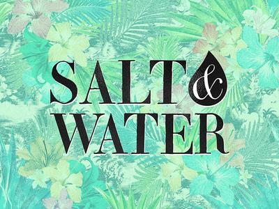 Salt & Water // Branding active yoga lettering type typography graphic design graphic concept branding vector design logo