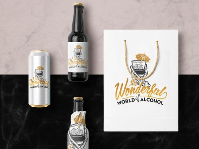 Illustrative Branding for new spin on AA concept for client beer alcohol minimal graphic design graphic branding design logo illustration lettering type typography