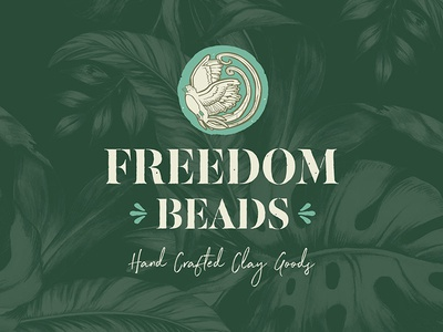 Freedom Beads // Branding hand hand-done lettering type typography graphic design graphic concept branding vector design logo