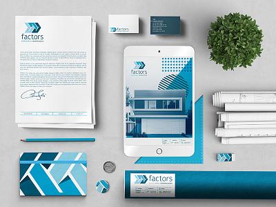 Brand Identity for Pre-Fab Modern Home Builder // Factors construction architecture minimal graphic design graphic concept branding vector design logo
