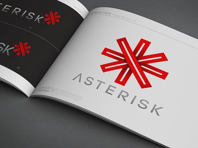 ❌Asterisk Branding lettering type typography futuristic minimal graphic design graphic concept branding vector design logo