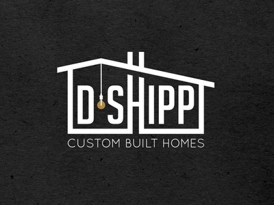 Branding for D•Shipp // Custom Built Homes in Orange County, CA lettering type typography minimal graphic design graphic concept branding design logo real estate architecture