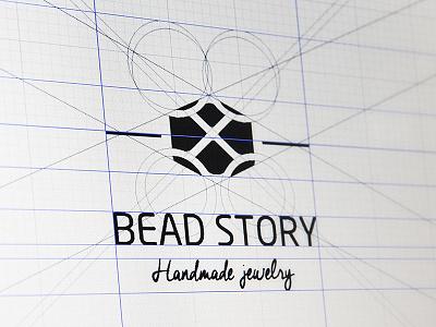 Bead Story logo logo construction jewelry logotype identity branding