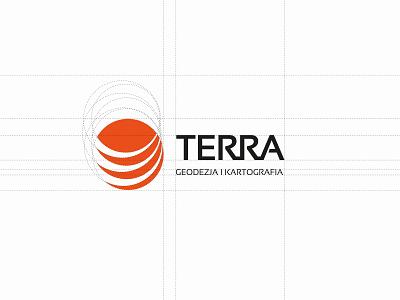 TERRA Geodesy & Cartography brand identity logotype logo construction branding logo