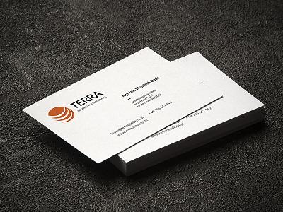TERRA Geodesy & Cartography business cards brand identity logotype branding logo