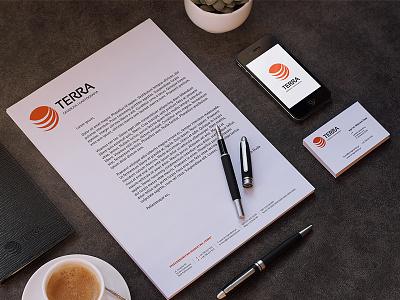 TERRA Geodesy & Cartography geodesy brand identity logotype logo construction branding logo