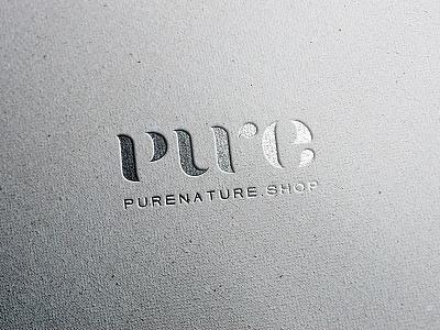 pure nature shop logo typography gold logo pure logo branding natural cosmetics logo natural cosmetics pure nature wordmark logo