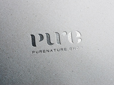 pure nature shop logo typography gold logo pure logo branding natural cosmetics logo natural cosmetics pure nature wordmark logo