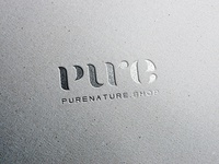 pure nature shop logo