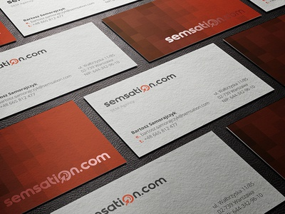 Bussinescards project logo construction sem seo search red signet wordmark sem agency logo branding bussiness cards