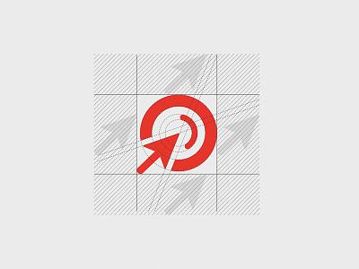 Signet constuction sem seo search red signet branding wordmark sem agency logo