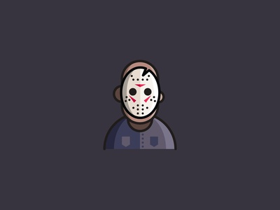 Friday the 13th | Jason Voorhees icon design icons icon vector illustrator design vector illustration hockey mask jasonvoorhees horror movie fridaythe13th friday 13th friday the 13th jason voorhees jason vector illustration horror halloween