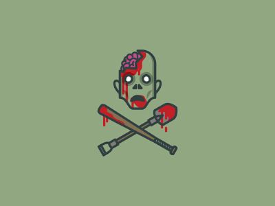 Zombie Slaying Club   Logo flat icon design icon drawing vector drawing vector graphic vector illustration the walking dead zombies zombie design logo design branding badge design badge illustration horror halloween vector logo