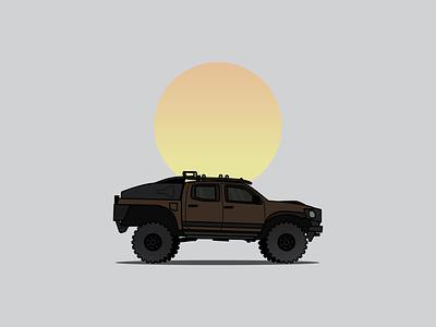 Adventure Mobile 4x4 summer camping vector art truck vectorart vector illustration illustrations off road offroading offroad adventuremobile adventure tacoma toyota vector illustration