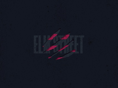 Elm Street | Slashed Type vector freddy krueger nightmare on elm street wes craven lockup retro logotype grainy illustration logo design logo horror halloween