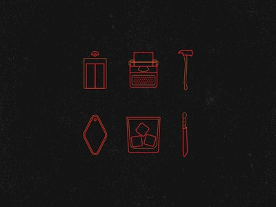 The Shining | Icon Set the overlook the shining iconography icons design icons pack icons set iconset icons icon vector illustration vector illustration horror halloween