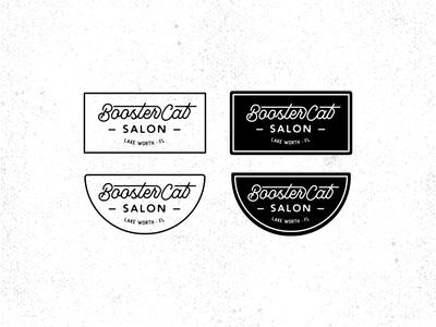 Booster Cat Salon Badges hipster logo hipster stickers sticker vintage retro logo badge logo custom type badge design badge grainy vector texture logotype retro logo design logo