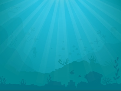 Underwater sun sea nature illustration vector water underwater