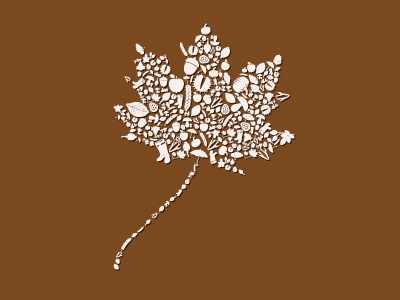 Leaf vector illustration icon leaf autumn fall