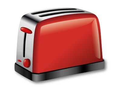 Toaster toaster home appliance vector illustration kitchen