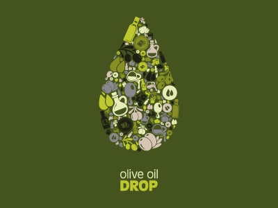 Olive Oil Drop vector illustration icon olive oil drop food