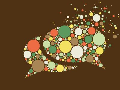 Communication Bubble vector illustration communication bubble abstract dots