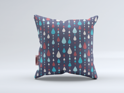 Pillow with pattern pillow drop pattern illustration vector