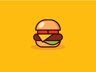 Hamburger food illustration vector icon hamburger