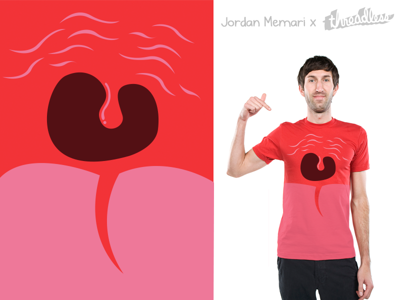 Voice threadless npr voice red mouth scream laugh vector cry sing illustration