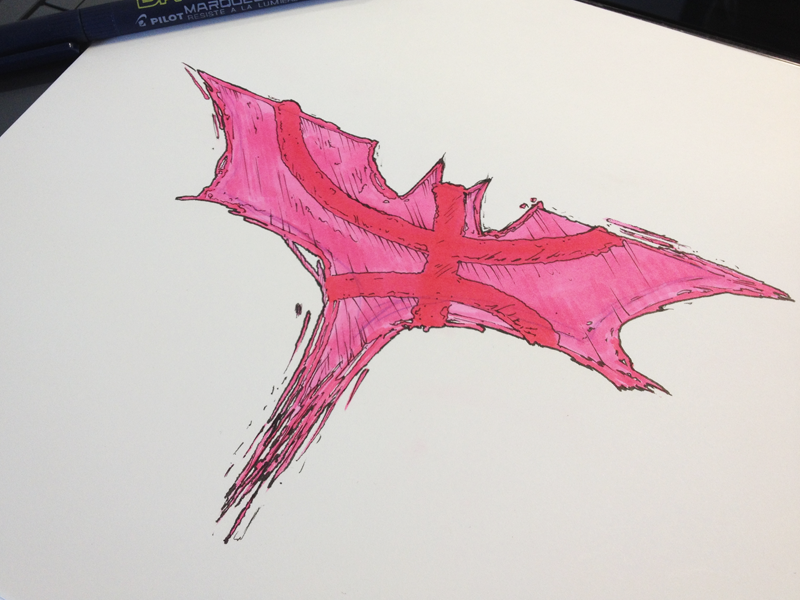 It's not who I am, but what I Dribbble that defines me. dribbble batman sketch illustration symbol logo mashup