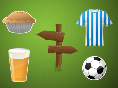 Football (soccer) infographic icons