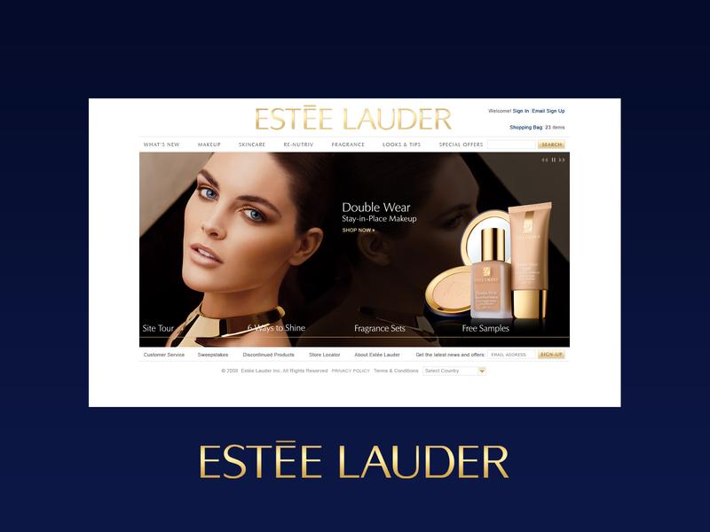 Estée Lauder luxury brand luxury cosmetics graphic design web design design