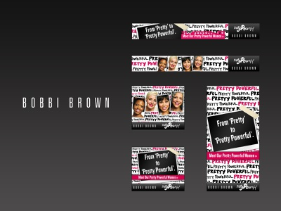 Bobbi Brown Pretty Powerful Ad Campign luxury branding luxury webdesign adverts graphics design display advertising ad design
