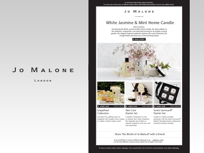 Jo Malone Email Design email campaign web design graphics graphic  design email design