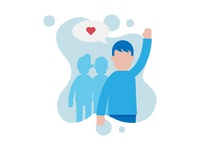 Targeted Audience Illustration for Business Cover Expert