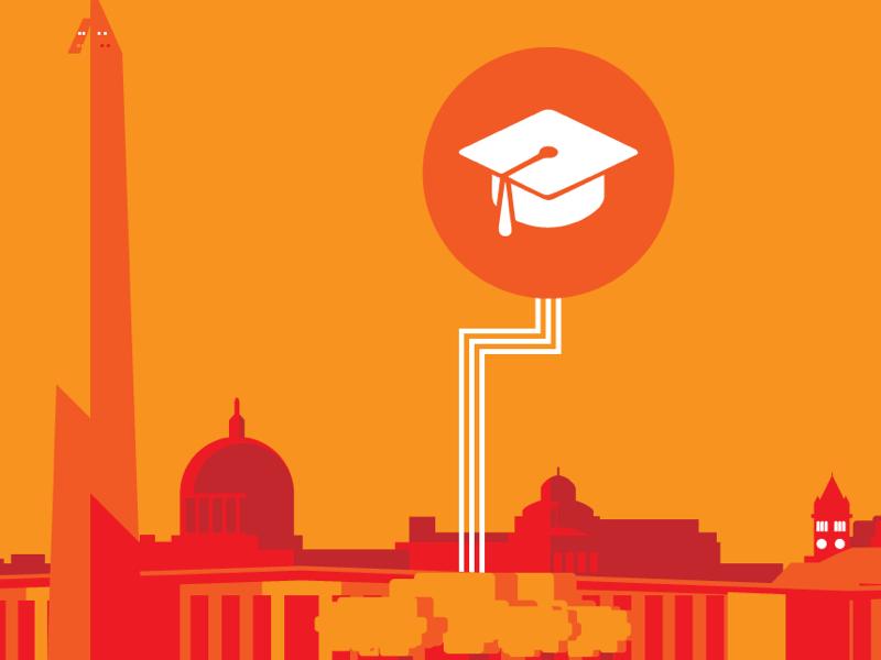 Education tech in DC orange desktop publishing graphic design corporate work digital graphics vector graphics digital illustration digital art art illustration