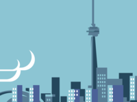 Toronto in blue